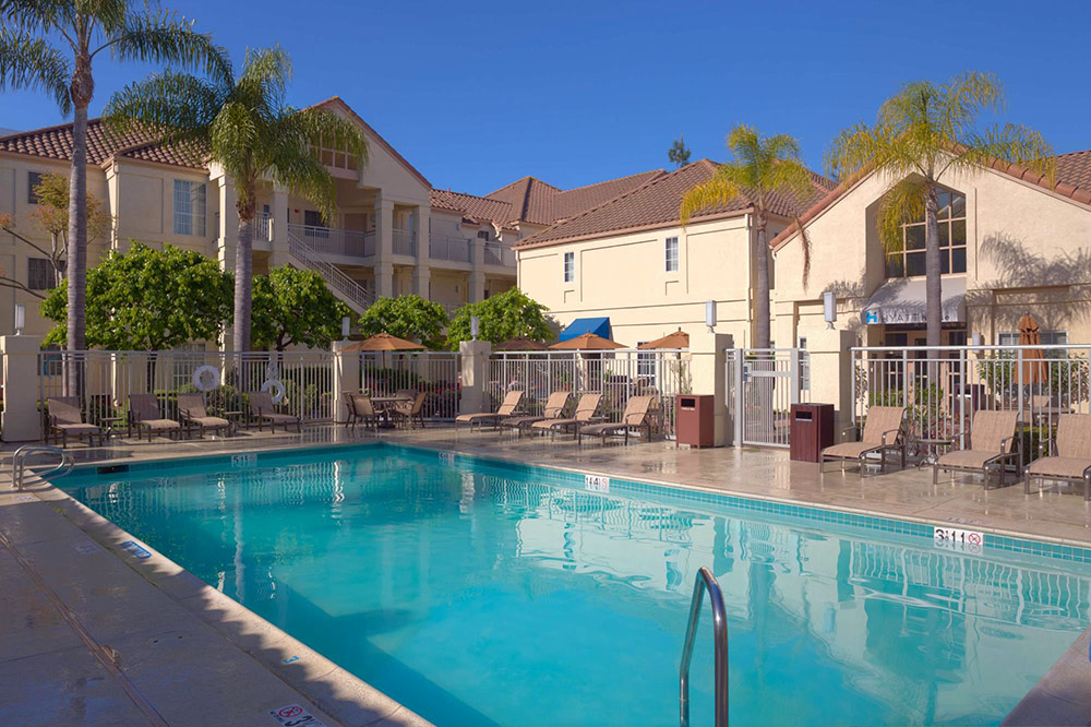 The pool at the Hyatt House hotel in El Segundo